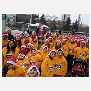 The charity run team of Helpers and BAGázs