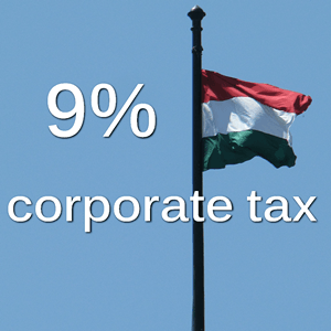 9% corporate tax in Hungary from 2017